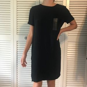 Dresses & Skirts - Black Dress with Leather Pocket
